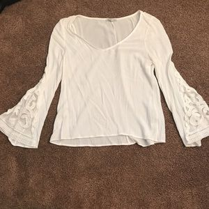 White Charlotte Russe Top size: M